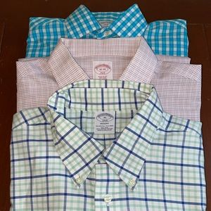 Lot of 3 Brooks Brothers Men's Button Down Shirts